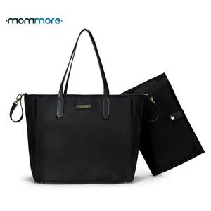 mommore Diaper Bag grande quotidiano Totes borsa con fasciatoio per il bambino nero Nappy Borse Madre Tracolla Passeggino Bag LY191202