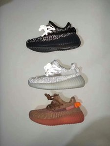 Adidas Boost 350 v2 Neue Kinderschuhe Kanye West V2 Wave Runner 700 Mädchen Laufschuhe Baby-Kleinkind-Trainer Junge Turnschuhe Kinder Sportschuhe Schwarz Rot