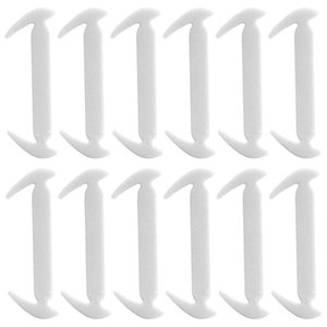 ABDB-New No Tie DIY Silicone Sickle Shoelaces for Adults and Kids 12pcs, Outdoor Sport Silicone Shoe Laces White