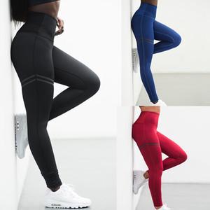 Çizgili Yoga Pantolon Gym Egzersiz Spor Tozluklar Spor Koşu Eğitim Pantolon Kadınlar Katı Sorunsuz Yoga Tozluklar Yüksek Bel Spor