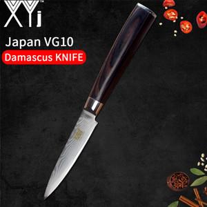 """Şam Çelik Mutfak Bıçağı XYj Meyve Bıçağı 3.5 """"inç Japon Tarzı VG10 Çekirdek 67 Katmanlı Et Balta Pişirme Araçları"""