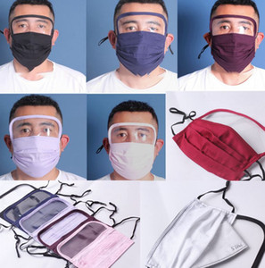 2 in 1 Washable Face Mask can use pm2.5 filter pad Protection eye Face Cover Mask Reusable Washable Breathable mask LJJK2163
