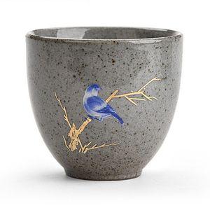 2020 8pcs Vintage Tea Cup 70ml Japanese Style Retro Master Cup Animal Small Plum blossom Bowl Porcelain Small Tea Single Mug