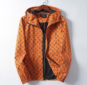 Новые мужчины куртка пальто Супре новый Louis Vuitton толстовка с капюшоном с длинным рукавом осень Спорт молния ветровка Мужская одежда