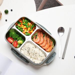 Almuerzo de Bento Caja de acero inoxidable de plástico 1200ml cajas de celosía cocina almuerzo envase de alimento para los niños climatizada almuerzo Caso GGA3226-2