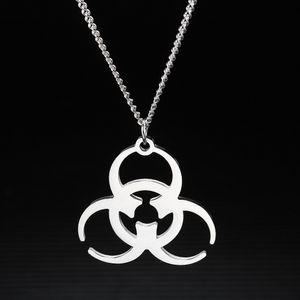 Giapponese Coreano Resident Evil Medical Care rifiuti collana d'acciaio di titanio Ciondolo Via fredda del luppolo Cool Earth Disco Danci