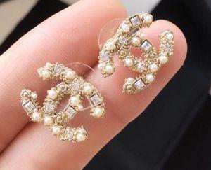 2020 g di Lusso Del Progettista Dei Monili Delle Donne Orecchini in rilievo strass designer di gioielli per la sera prom show orecchini di alta qualità in oro