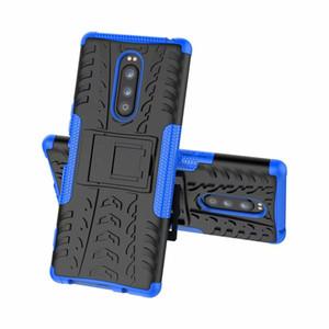 2 em 1 híbrido Kickstand Impacto robusto Heavy Duty TPU + PC caso capa para Sony Xperia XZ3 XA3 XZ4 XZ4 MINI L4 50pcs / lot
