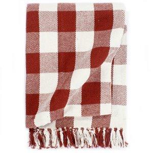 Throw Cotton Check 220x250 cm Red Stone Autre Home Textile