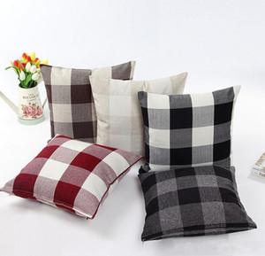Classic gran celosía funda de almohada de lino Natural funda de almohada decorativa sala de estar cama cojín de la oficina cubierta 45 * 45 cm