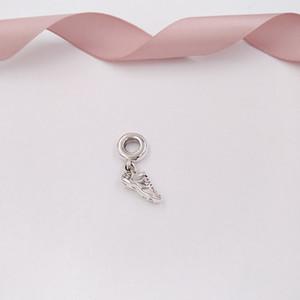 Autêntica prata esterlina 925 Beads Sapata Running Dangle encanto, encantos Limpar Cz único estilo europeu jóia de Pandora pulseiras Colar 7920