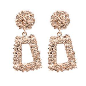 Orecchini moda in oro rosa più nuovi per donna Design europeo Orecchini pendenti Regalo per gioielli amico 3 colori