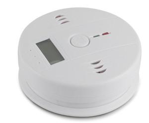 CO Testeur de monoxyde de carbone Alarme Avertissement Détecteur Détecteur Gaz Détecteurs d'empoisonnement Feu Écran à cristaux liquides Surveillance Surveillance Alarmes de sécurité À La Maison