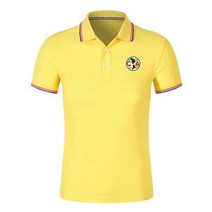 2020 Liga MX Club America Polohemden Fußball Jerseys Fußball-Polohemd 2020 2021 Club America Kurzarm Poloshirt Fußball Fans Tops