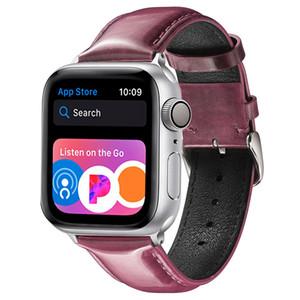 Sport Bracelet en cuir pour Apple montre la bande 42mm 38mm 44mm 40mm iWatch Série 4/3/2/1 Bracelets en suède peau de vache Watchband