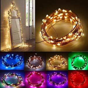 Sıcak Led dize Dekorasyon Işık 220V İçin Parti Düğün Halloween Noel Flaş Işık 10M 33 Ft Şeritler 100 Led 9 Renkler DHL gemi HH7-1701
