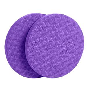 2pcs Home Fitness piatto rilievo di sostegno pratico rotonda ginocchio gomito polso Protezione Sport Yoga Mat allenamento ispessite TPE Non Slip