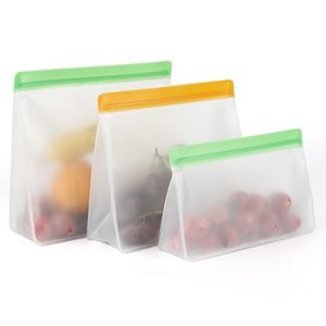 Food Storage PEVA Containers Set Stand Up Fresh Bags Zip Silicone Reusable Lunch Fruit Leakproof Cup Freezer Vegetable Cup Bowl