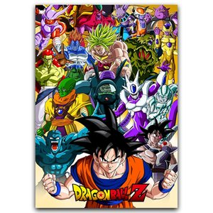 Z Poster Goku classique Anime Silk Art Poster New Anime japonais mur Photos pour Home décorations