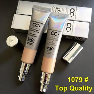 La pelle, ma il trucco migliore CC + Crema correzione del colore Illuminating Full Coverage Concealer Primer Viso Brighten Fondazione Crema 32ml DHL