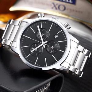 2020 Nova Marca Top Seis pontos segundos série agulha pequena corrida de alta qualidade dos homens de moda de luxo relógios relógio dos homens com fita de aço