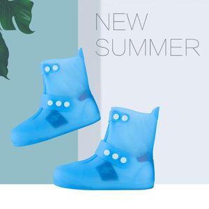 Rain Boots Cover Толстого Покрытие Водонепроницаемый Бахилы многоразовых Мужчины Женщина Открытый ПВХ Overshoes