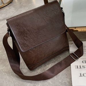 Handbag Fashion Men Designer Leather Business Diagonal Pu Handbag Briefcase Solid Color Classic Shoulder Bag A20