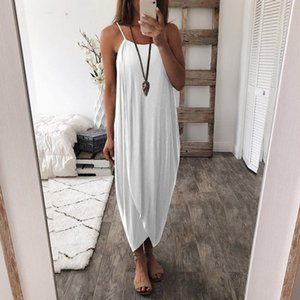Loose Casual lady Summer Long Dress Women Maxi Dress Elegant Sleeveless Sling Vestido Evening Party Boho Beach