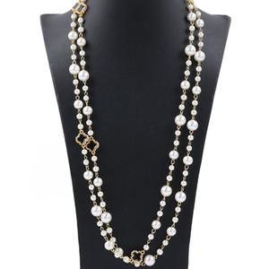 Jóias camisola colares Mulheres de alta qualidade Designer de luxo Jóias Mulheres Colar de diamantes floco de neve Pérola Colar de Mulheres