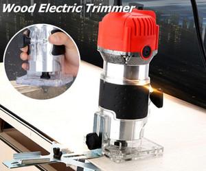800 W Trimmer Mão De Madeira Laminador De Palmeiras Elétrica Ferramenta Marceneiro 30000 RPM 6.35mm Collet Diâmetro 220 V