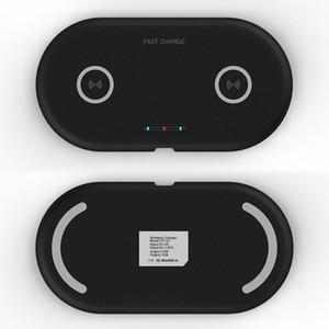 20W Dual-Sitz Qi Wireless-Ladegerät für Huawei P30 Samsung note10 S10 S9 10W Schnelllade Wireless-Pad Tischplattenaufladeeinheits