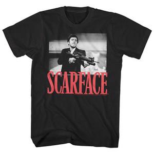 Camiseta de Scarface Tony Montana Big Guns amigo pequeno Homens Pacino Gangster filme MX200611