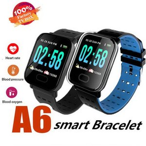 2019 A6 Mens Sport Smart Band 혈압 Smart Bracelet Heart Rate Monitor 칼로리 추적기 IP67 방수 팔찌 Watch