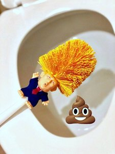 Donald Trump Toilet Brushes Make Your Toilets Great Again Shower Room Ceramic Tile Handle Brush Cleaning Tools AAA1495