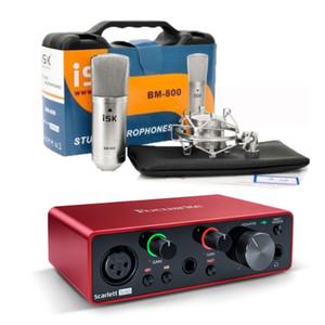 ISK BM-800 microfono e Focusrite Scarlett Solo Gen 3 2 ingresso della scheda audio interfaccia audio USB 2 ha prodotto per la registrazione microfonica