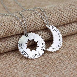 Пара Пара кулон ожерелье Moon Of My Life My Sun And Stars Symbol Choker Женщины Мужчины Косплей Jewelry