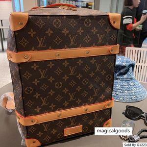 brang Brands M44752 SOFT TRONCO homens de couro mulheres mochila designer mala grande siz
