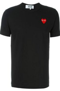 2020 mens designer de camisetas Commes OFF com coração esporte Camisetas des Garcons Branca T-shirt jogar Pablo CDG para o verão vetements cobre T