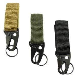 Hombres acampar al aire libre táctico mosquetón mochila ganchos Olecranon Molle Hook Survival Gear EDC Nylon militar llavero broche