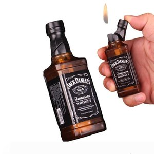 Hot Sale 2019 New Arrival Smoking Cigarette Accessories gas lighters Red wine bottle shape novelty lighter