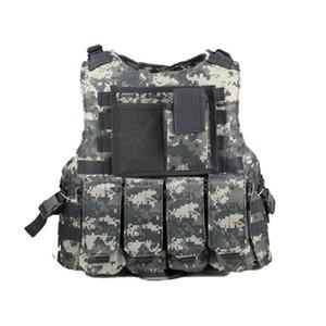 New camouflage army fans tactical battle vest men amphibious combat camo sleeveless jacket protection waistcoat