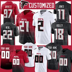 Atlanta Todd Gurley II Custom, Matt Ryan Falcon forması Ridley 22 KEANU NEAL DEVONTA FREEMAN Grady Jarrett Warrick Dunn Futbol Formalar