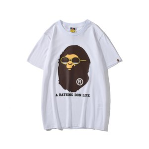 Mais recente dos desenhos animados dos desenhos animados de impressão de manga curta T-shirt dos homens de Verão Adolescente Casual em torno do pescoço de manga curta de Hip Hop Camisetas