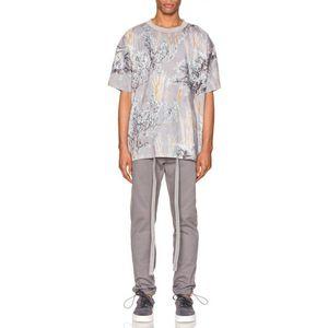 2020FW Flower Steppe Soul Camouflage Tee Printed Short Sleeves Men Women Couple Casual Street Skateboard T-shirt Crew Neck Fashion HFHLTX045