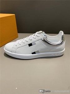 Mens Laser leather sneaker with White cowhide fabric. 2020 SS collection Sneakers Latest original cavans Shoes With box size 38-45