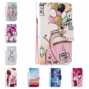 Leder-Mappen-Kasten für Samsung-Anmerkung 10 S10 A80 A70 A50 A40 A20S A20E A10S Blumen-Schmetterlings-Einhorn-Ballon-Traumfänger-Halter-Schlag-Abdeckung