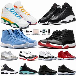 Com caixa das sapatilhas dos homens Bred Pantone Concord 45 11s tênis de basquete 11 13s Parque escolhe o dia Gama azul Mulheres Outdoor Sports Trainers