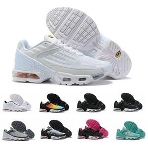 2019 Tn Plus Tuned Zapatos para correr Mujeres Hombres Zapatillas de deporte de diseño Zapatillas de deporte Rainbow des Chaussures Tns III 3 Femme Homme Schuhe Zapatos Sports