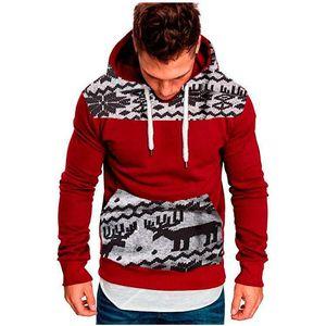 2018 mens designer hoodies Autumn new men's fashion Christmas deer hooded long-sleeved slim sweater Fashion Tops Pullovers
