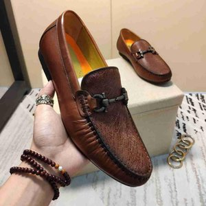 2019 mens Flat Leather Oxford Shoes Business Walking Wedding Party with box wan2